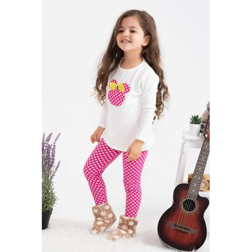 Girl's Tights Set - white pink