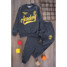 Boys' Thick Sporty Set -dark selver