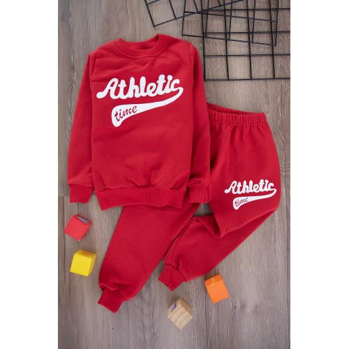 Boys' Thick Sporty Set -red2