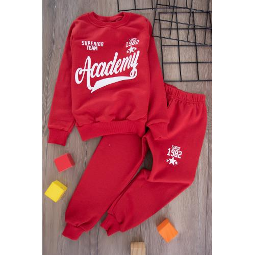 Boys' Thick Sporty Set -red