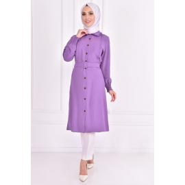 Light Mauve Tunic with a belt