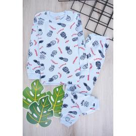 Boys' Set (Pineapple Printed) -green ment color