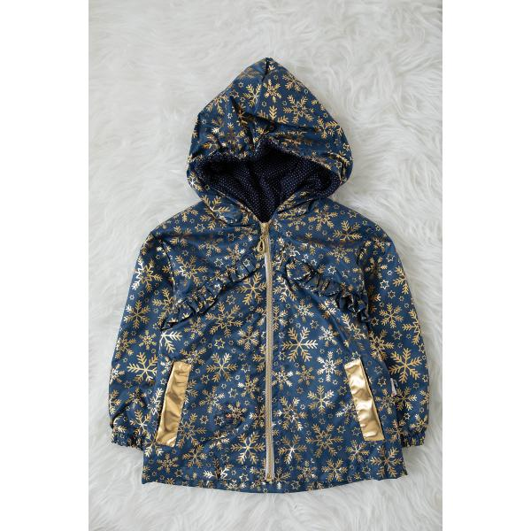 Girl's printed raincoat - Petroleum