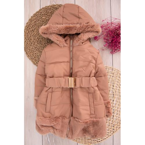 Girl's Coat - salmon color