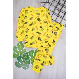 Boys' Set (Pineapple Printed) - yellow