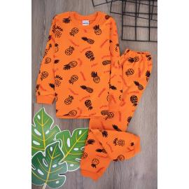 Boys' Set (Pineapple Printed) - orange