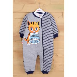 Cat printed sleeping jumpsuit - dark blue