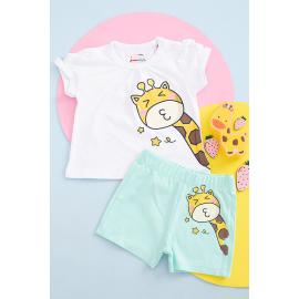 Shorts Baby set model giraffe two pieces age of six months to two years