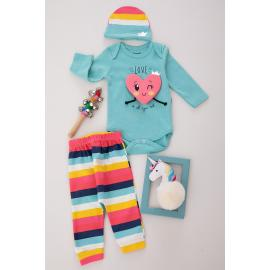 Baby Set Three Pieces Cotton