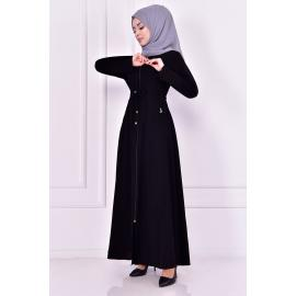 Black coat with zipper