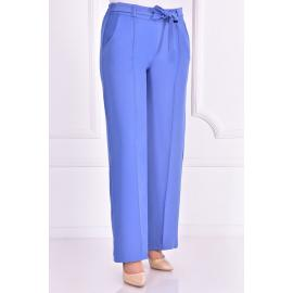Blue pants with an attached belt