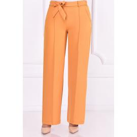 Mustard yellow pants with a belt