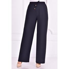 Black pants with an elasticated belt