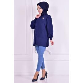 Tunic, navy blue color