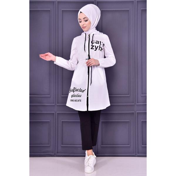 white coat with cape