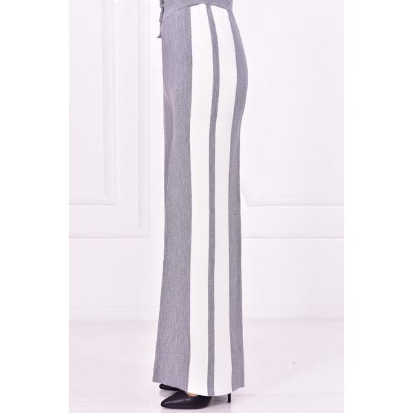Knitted pants, silver color