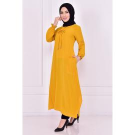 Yellow tunic with two pockets