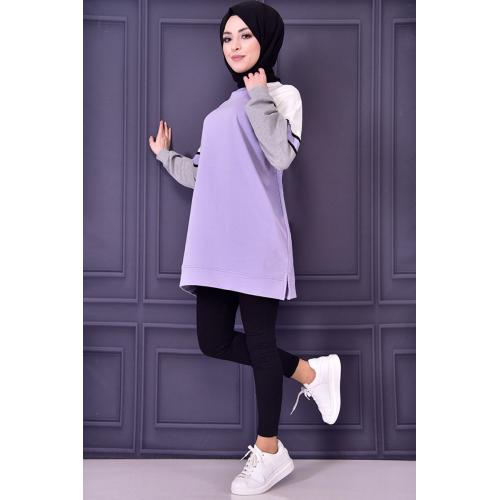 Mauve colored tunic