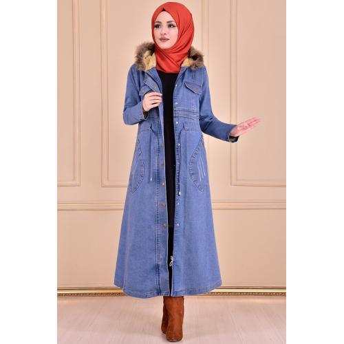 coat - light blue