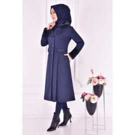Coat - navy blue
