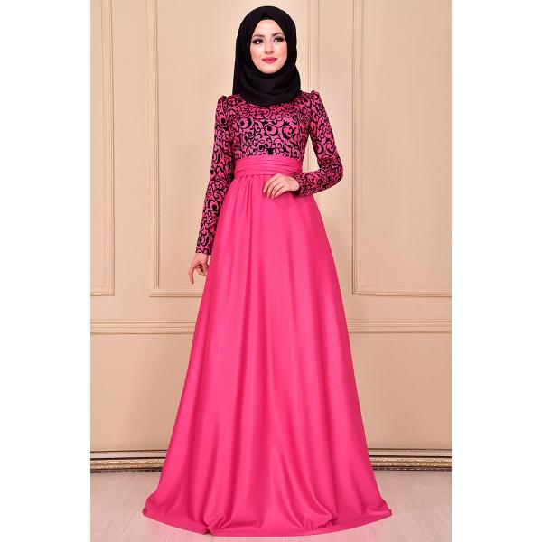 Evening dress {princess style} Fuchsia color