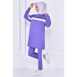 striped set of (two pieces)  - purple