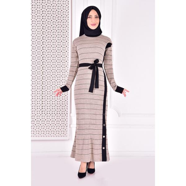 knitwear dress - creamy color