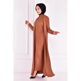 knitwear set -cinnamon color.