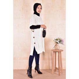 knitwear coat-white.