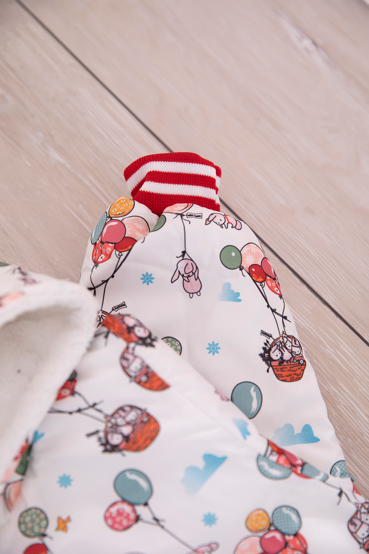 Baby Jumpsuit (Bunny printed) girlish -red2