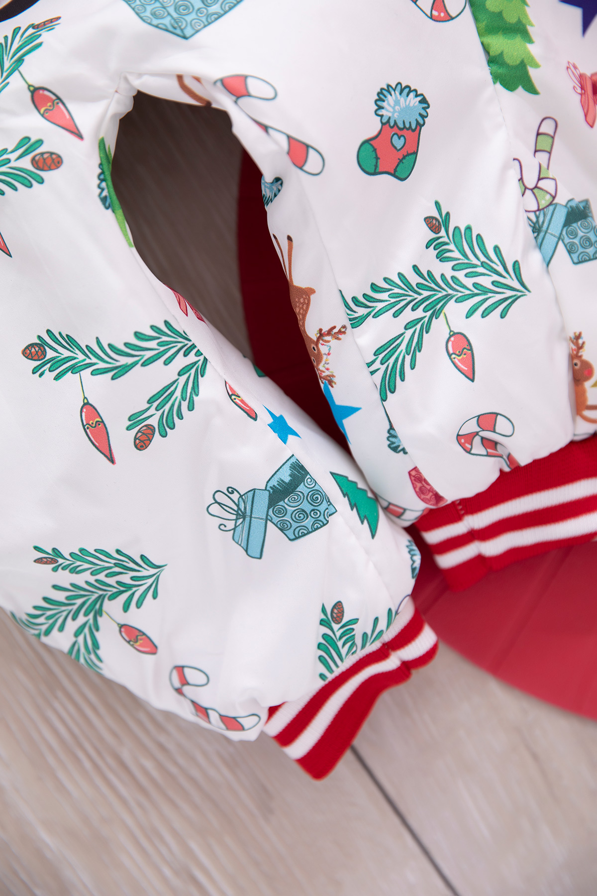 Baby Jumpsuit (Santa Claus Printed) -red