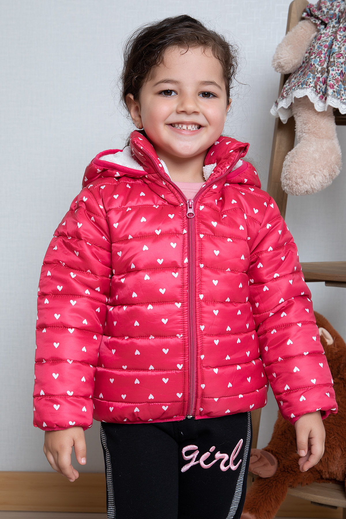 Girl's Coat - fuchsia