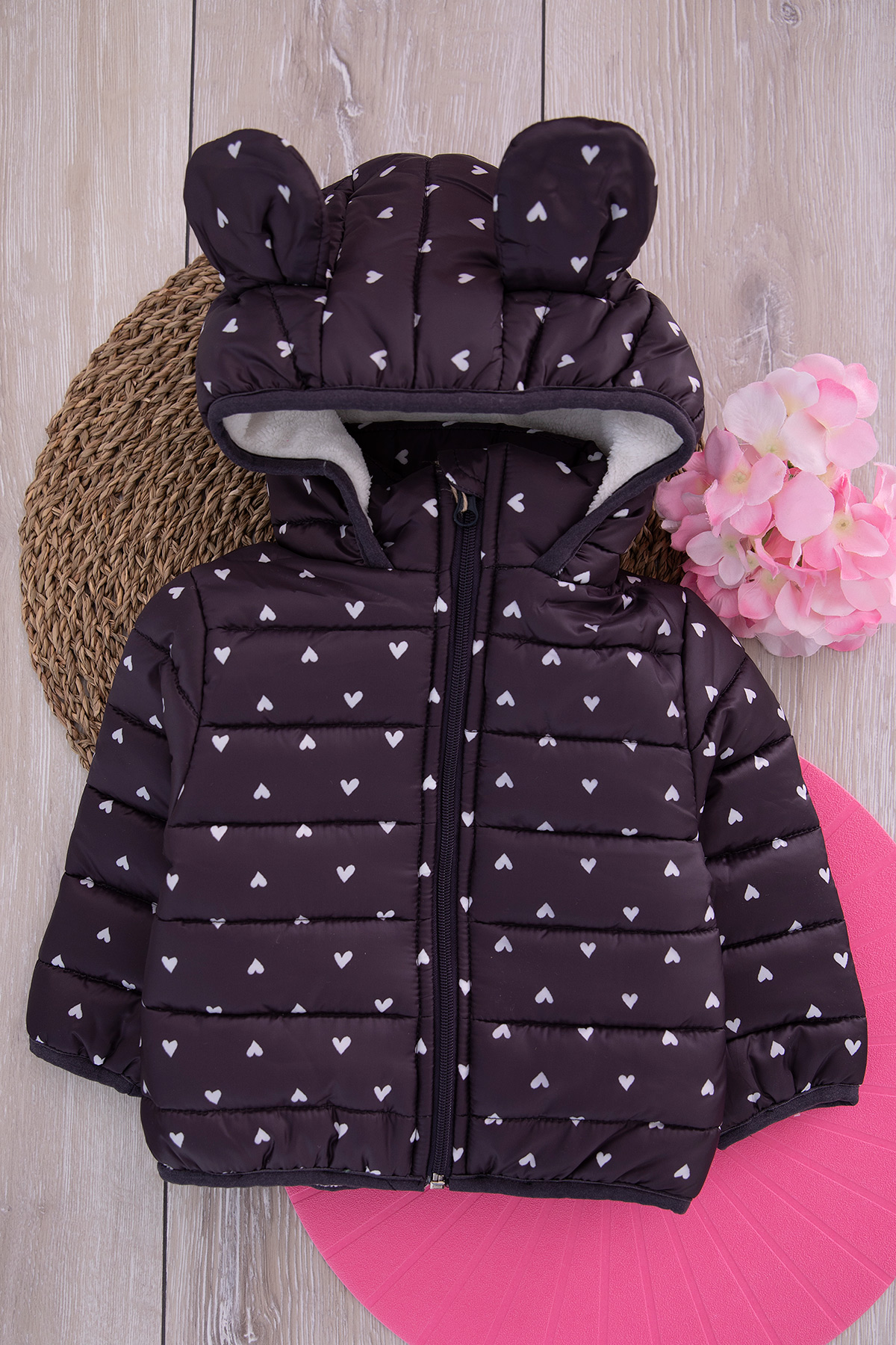 Girl's Coat - black