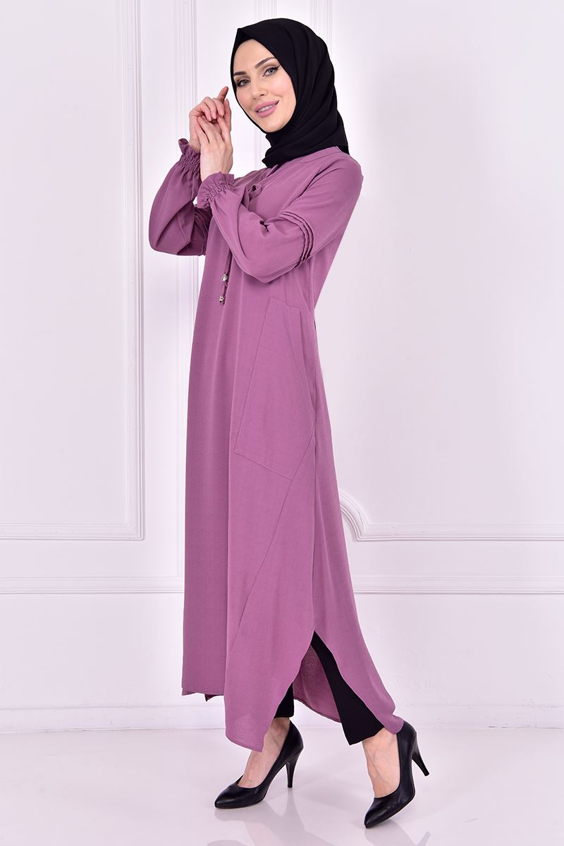 Light Mauve Tunic with two pockets