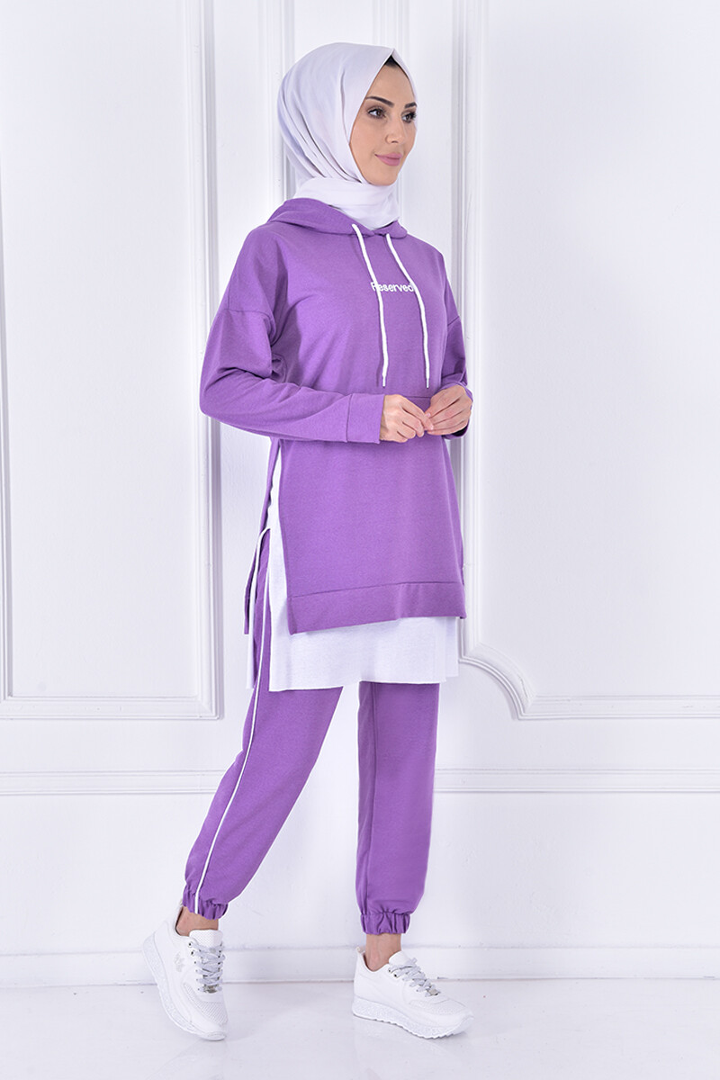 set with cape - lilac color