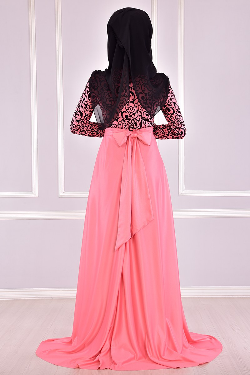 Evening dress {princess style} Light pink color